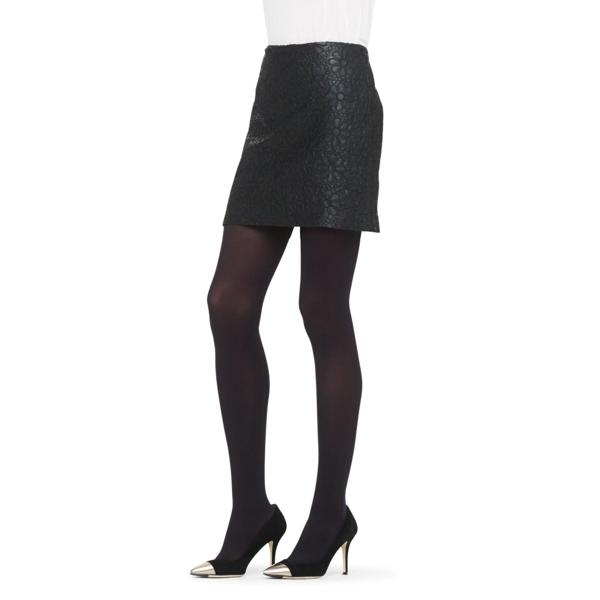 club monaco janice faux leather skirt in black lyst