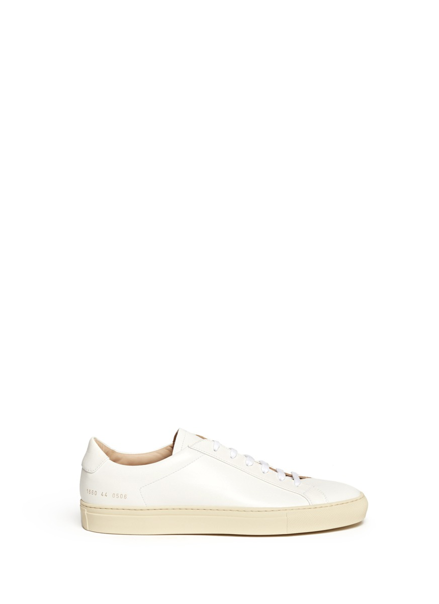common projects original vintage leather sneakers in white for men lyst. Black Bedroom Furniture Sets. Home Design Ideas