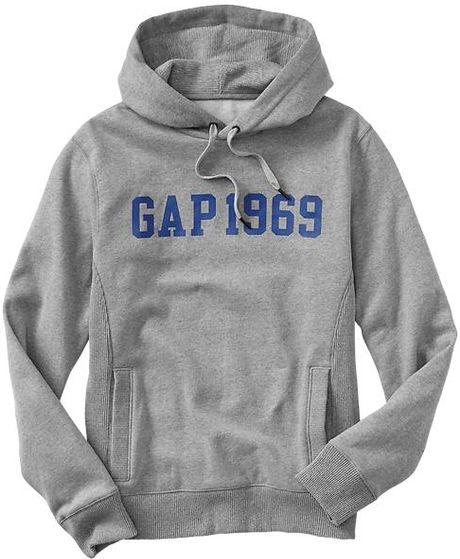 Gap Pullover Logo Hoodie Gray