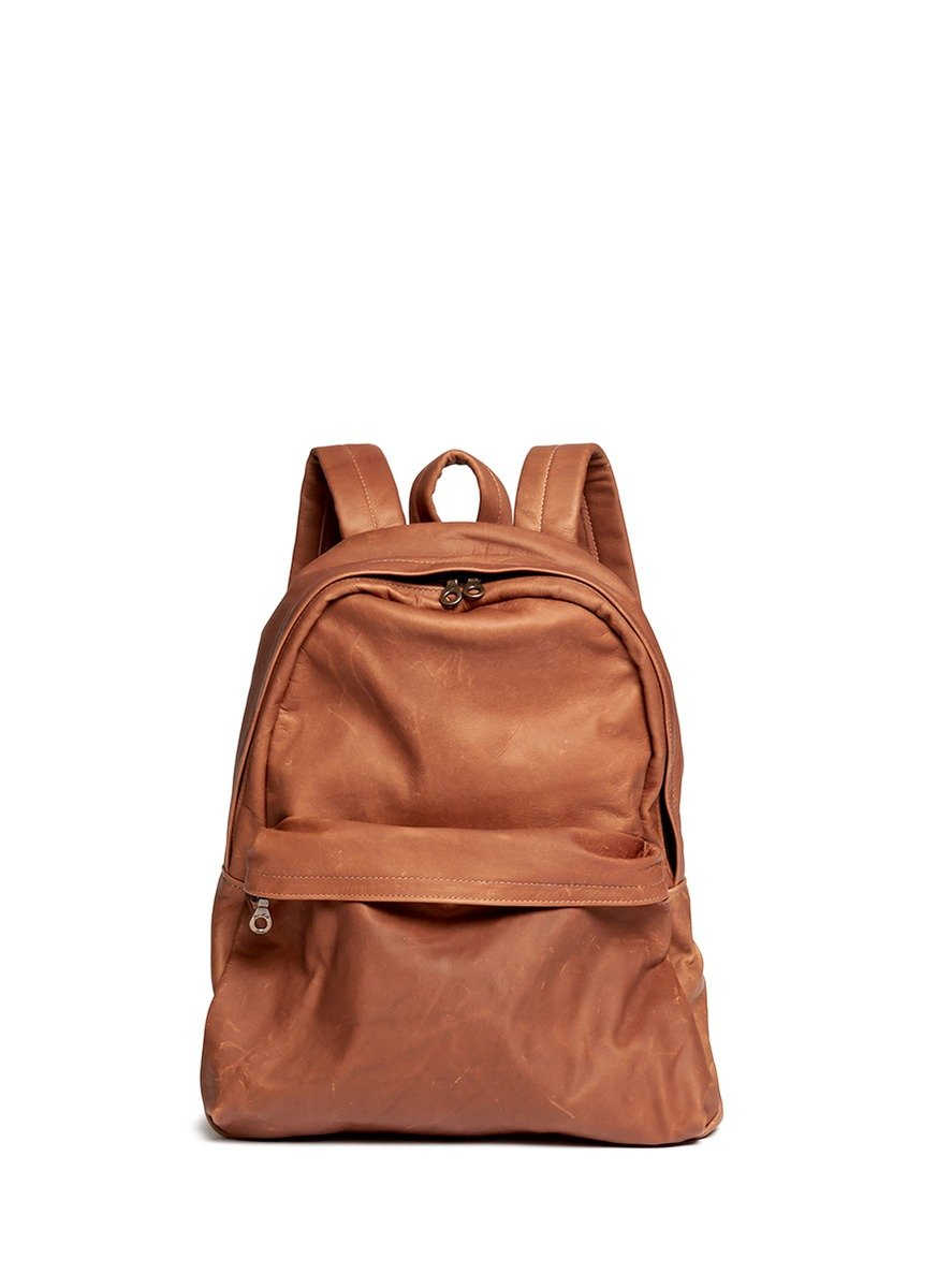 Jas mb Leather Backpack in Brown for Men | Lyst