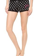 Juicy Couture Polka Dot Terry Shorts - Lyst