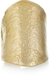 Kenneth Jay Lane Hammered Gold Plated Cuff - Lyst
