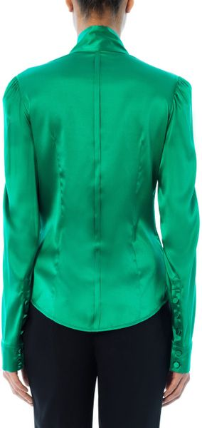 Green Charmeuse Blouse 65