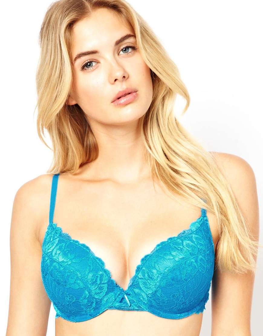 8f9a8cacaac Marie Meili Wilma Lace Super Push Up Bra in Blue - Lyst