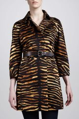 Michael Kors Doublebreasted Tiger Trench - Lyst