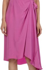 Nina Ricci Sleeveless Dress with Asymmetric Draping - Lyst