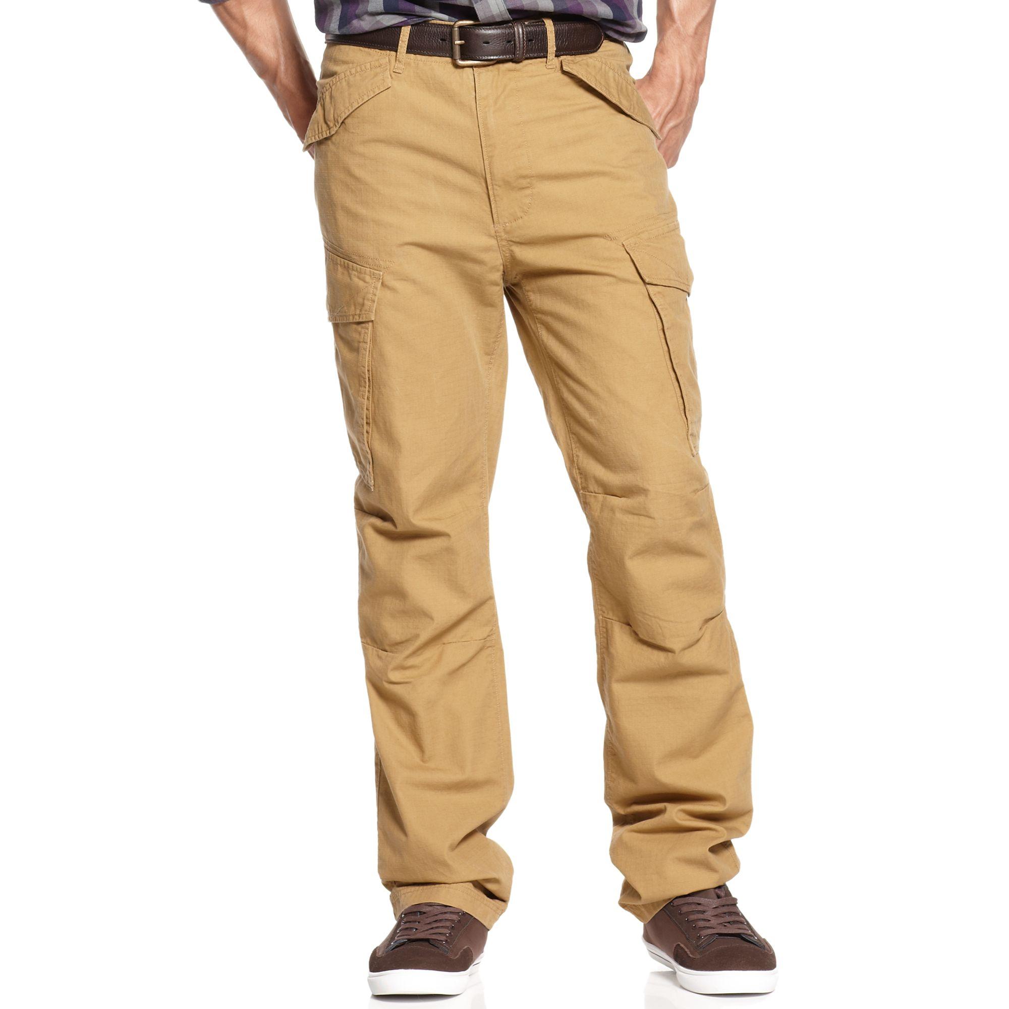 Sean john Rip Stop Cargo Pants in Yellow for Men | Lyst