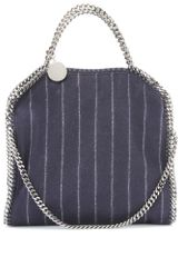 Stella McCartney Falabella Striped Tote - Lyst