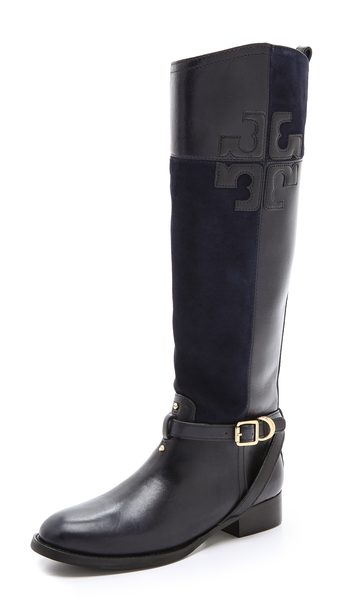 Tory burch Lizzie Riding Boots in Blue | Lyst