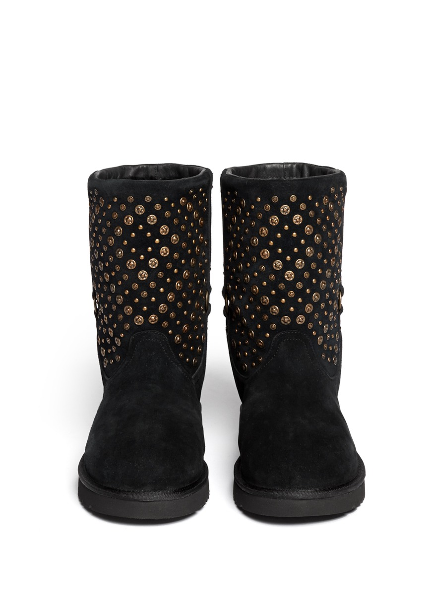 Ugg Elliott Studded Short Boots In Black Lyst