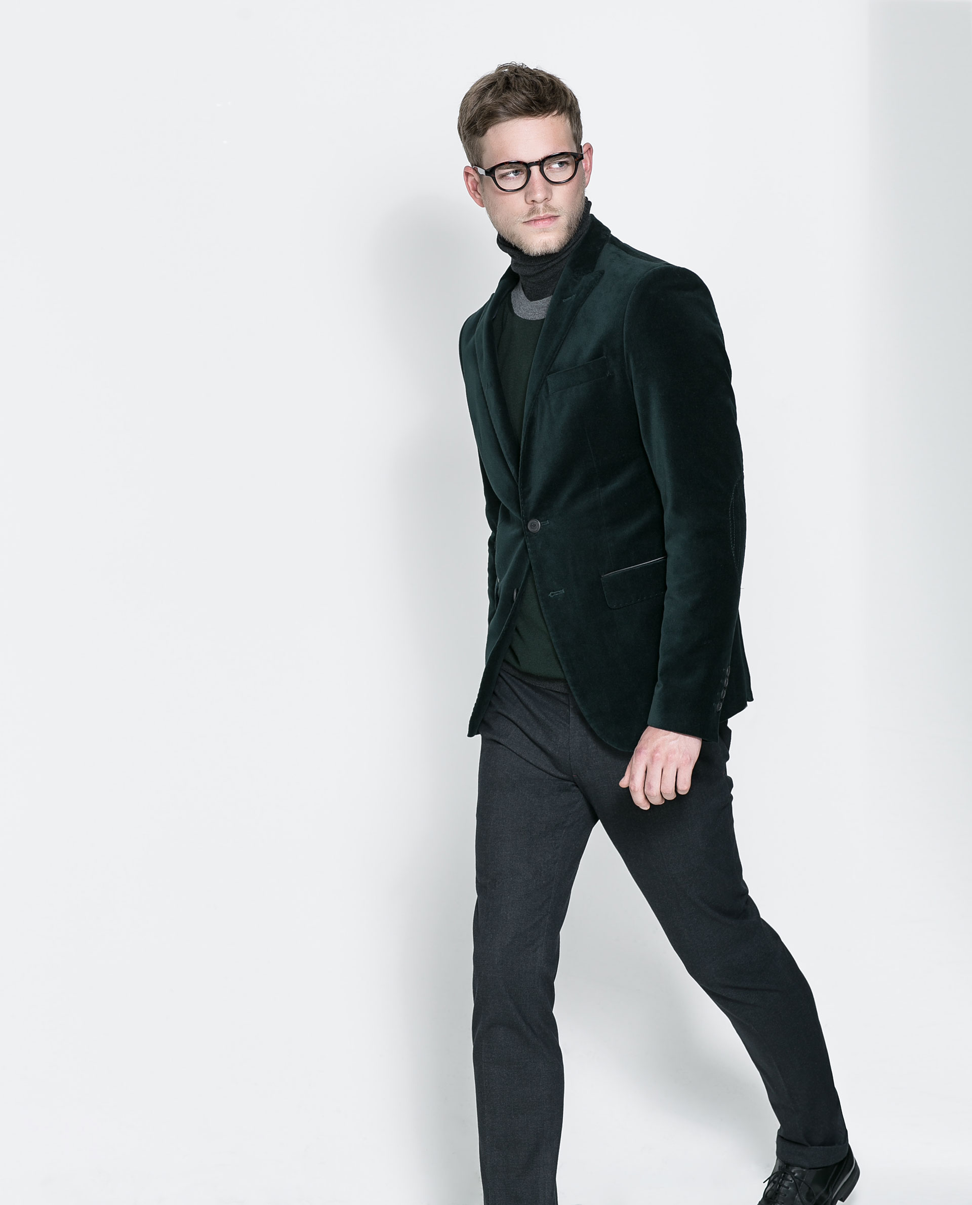 Zara Velvet Blazer in Green for Men | Lyst