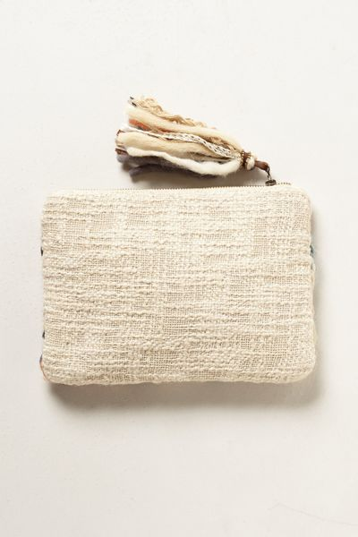 Anthropologie Woven Tapestry Pouch In Beige Neutral Lyst