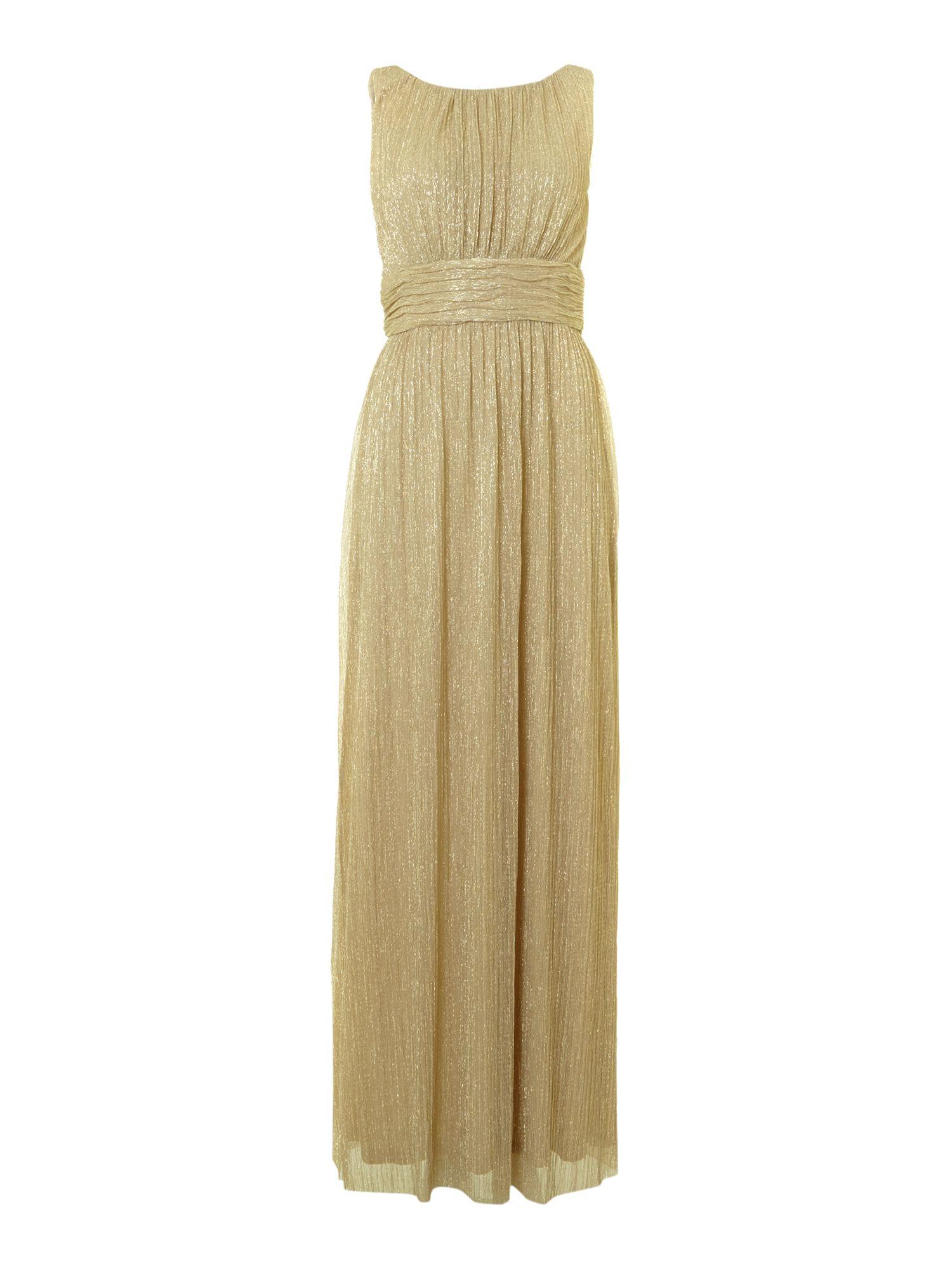 Women's Metallic Lurex Maxi Dress