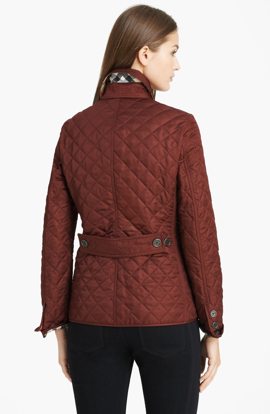 Burberry brit Copford Quilted Jacket in Brown | Lyst : copford quilted jacket - Adamdwight.com