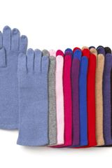 Echo Cashmere Blend Tech Gloves - Lyst