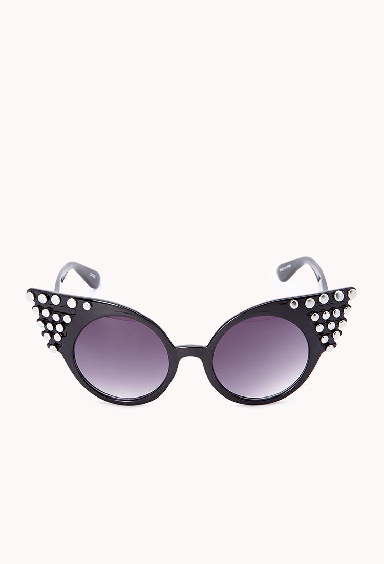 Sunglasses Forever 21  forever 21 bold cateye sunglasses in black lyst
