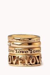Forever 21 Lovely Ring Set - Lyst