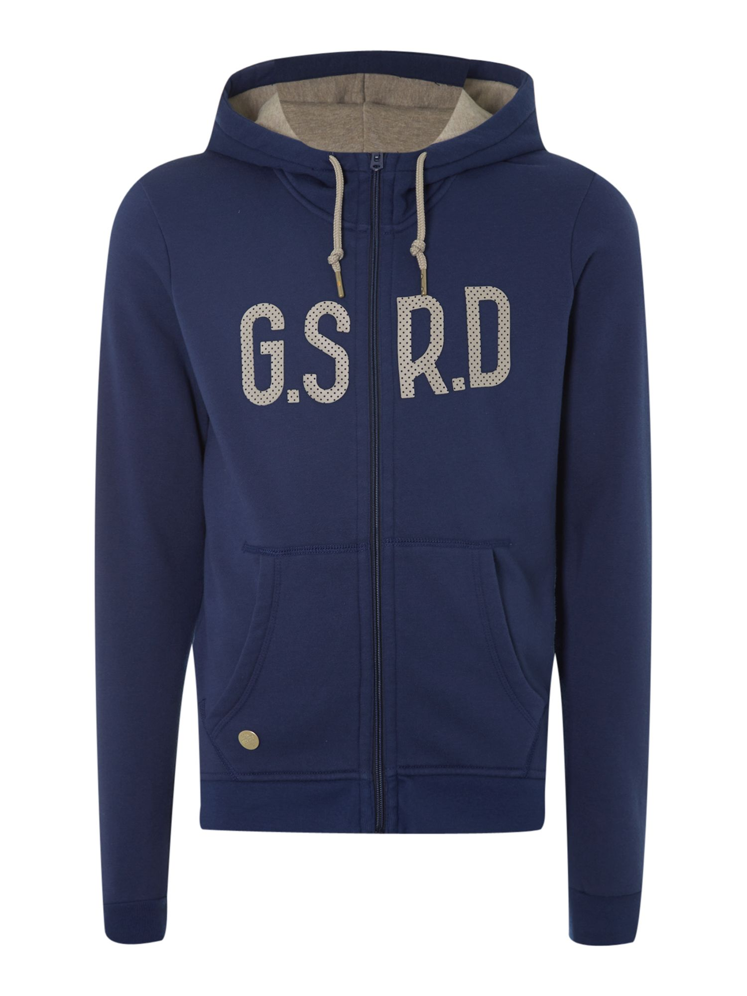 g star raw snell hooded long sleeved sweater in blue for. Black Bedroom Furniture Sets. Home Design Ideas