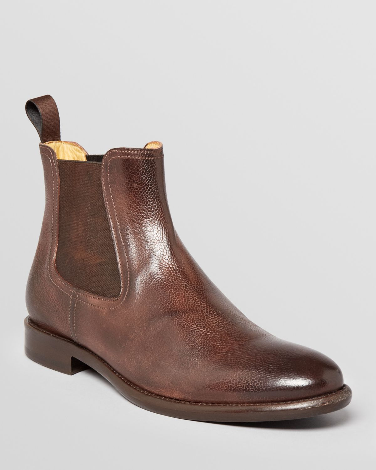 gordon empire leather chelsea boots in brown for