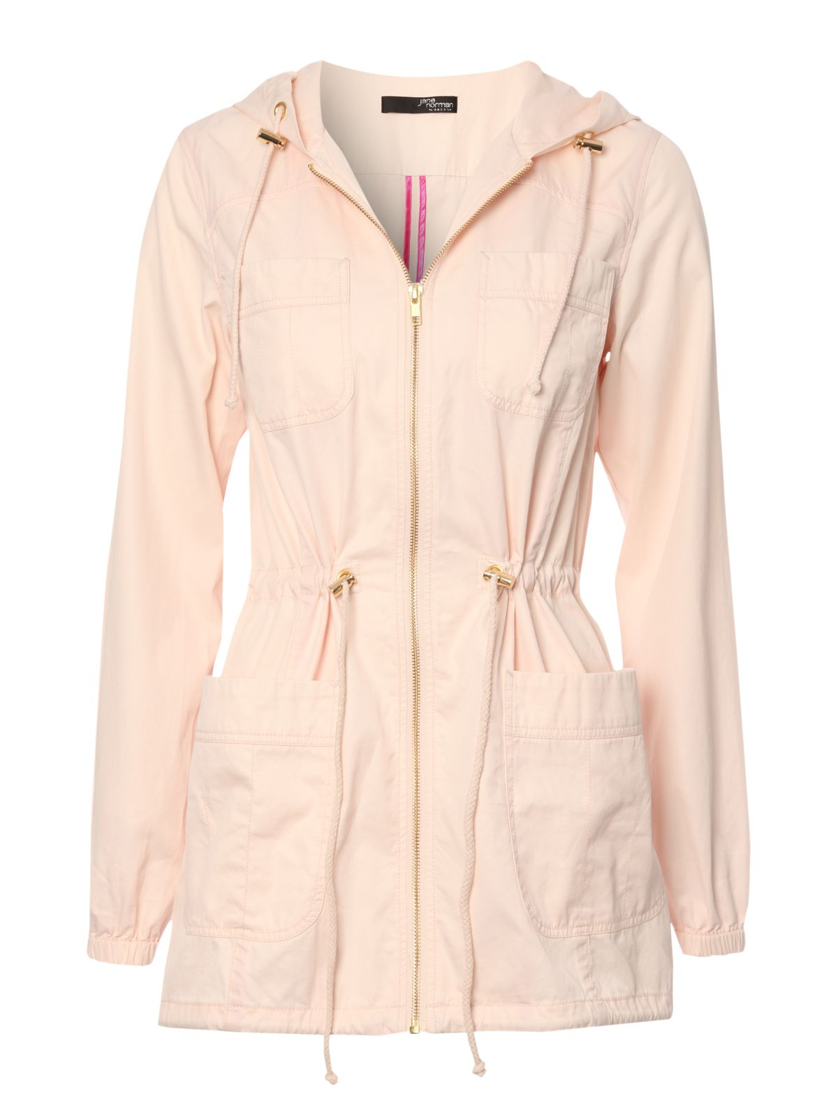 Jane norman Hooded Parka Jacket in Pink | Lyst