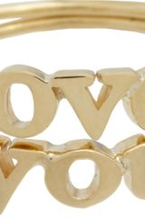 Jennifer Meyer Gold Love You Ring Set - Lyst