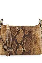 Michael by Michael Kors Small Weston Snakeprint Messenger - Lyst