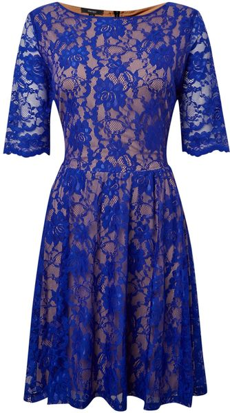 Therapy Lace Skater Contrast Dress - Lyst