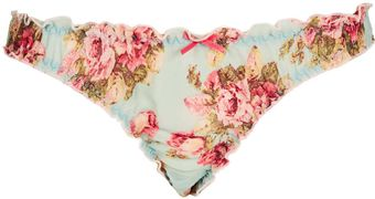 Topshop Pretty Pink Rose Knickers - Lyst