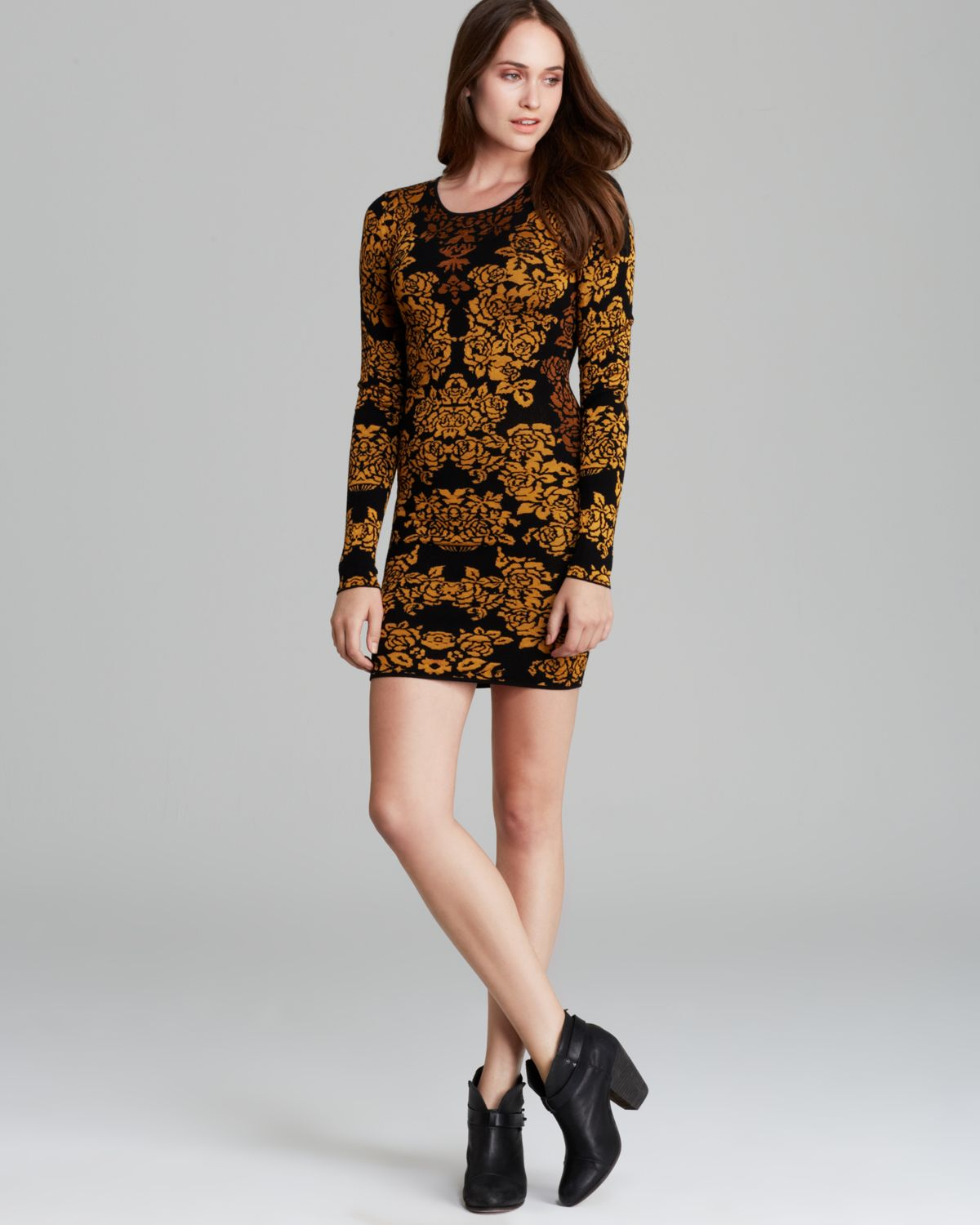 303e84be49 Lyst - Torn By Ronny Kobo Dress Mammie Bouquet Jacquard in Brown