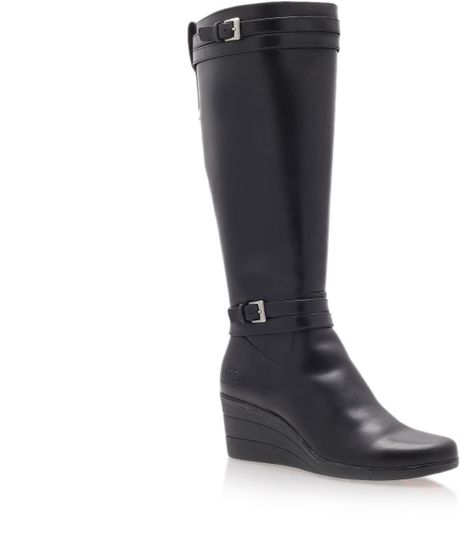 ugg irmah knee high boots in brown black lyst
