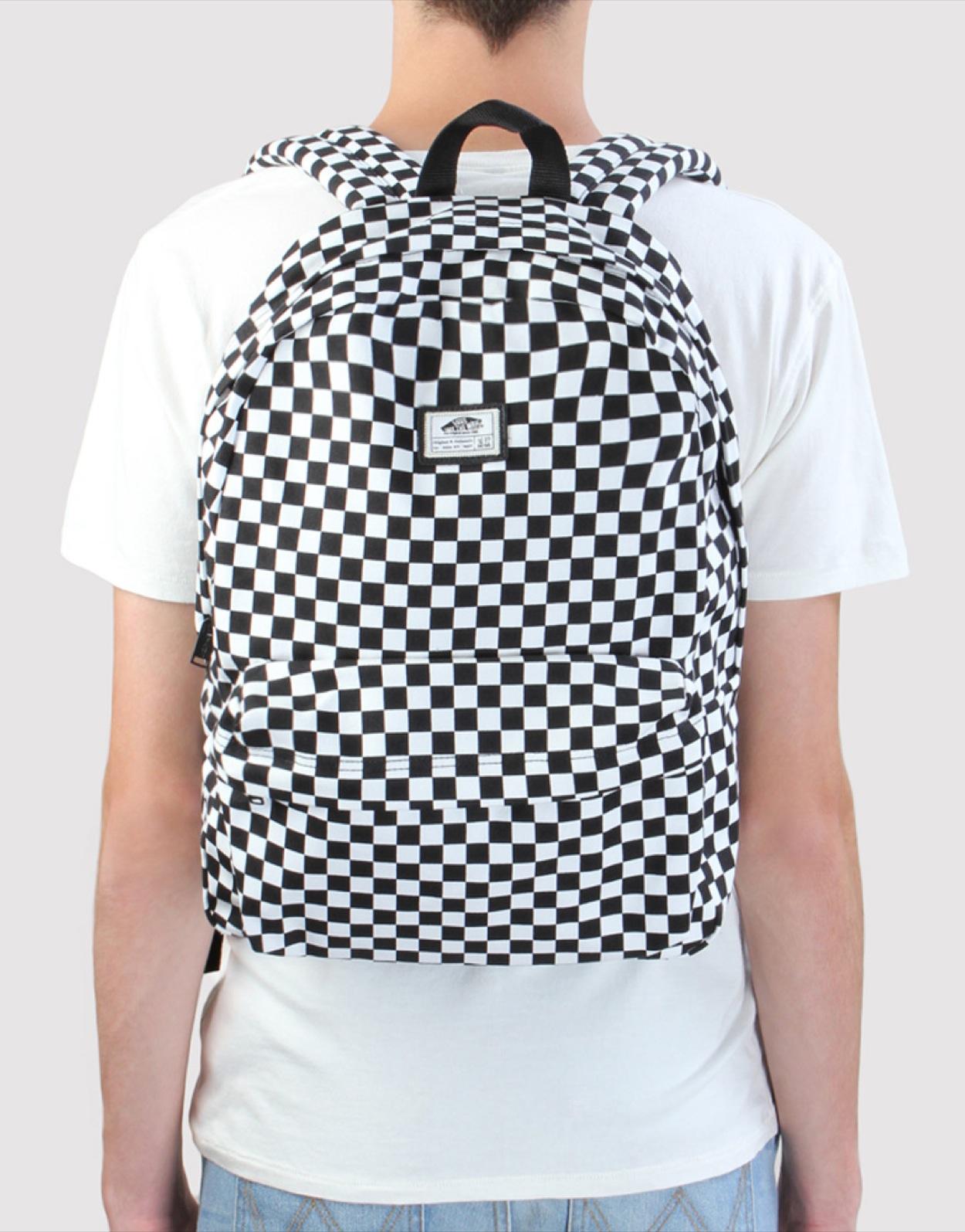 vans checkerboard backpack