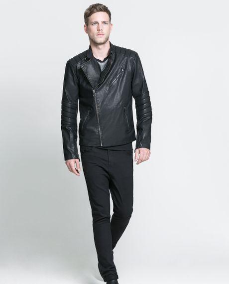 Zara Faux Leather Jacket Men Girls Clothing Stores