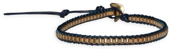 Ziba Blue Chain Leather Friendship Bracelet - Lyst