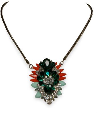 Ziba Global Grunge Statement Stone Pendant - Lyst