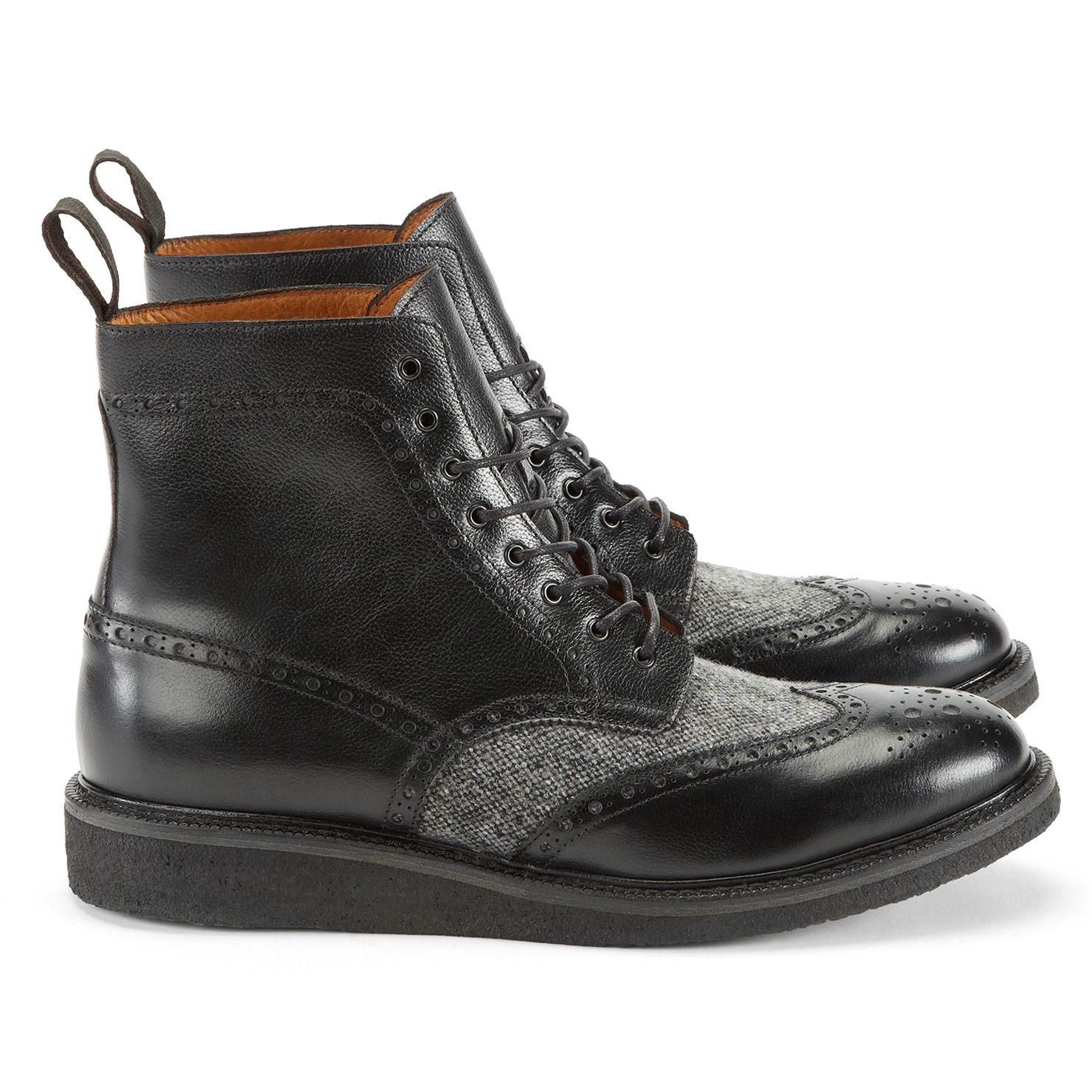 aldo girroald lace up boots in black for lyst