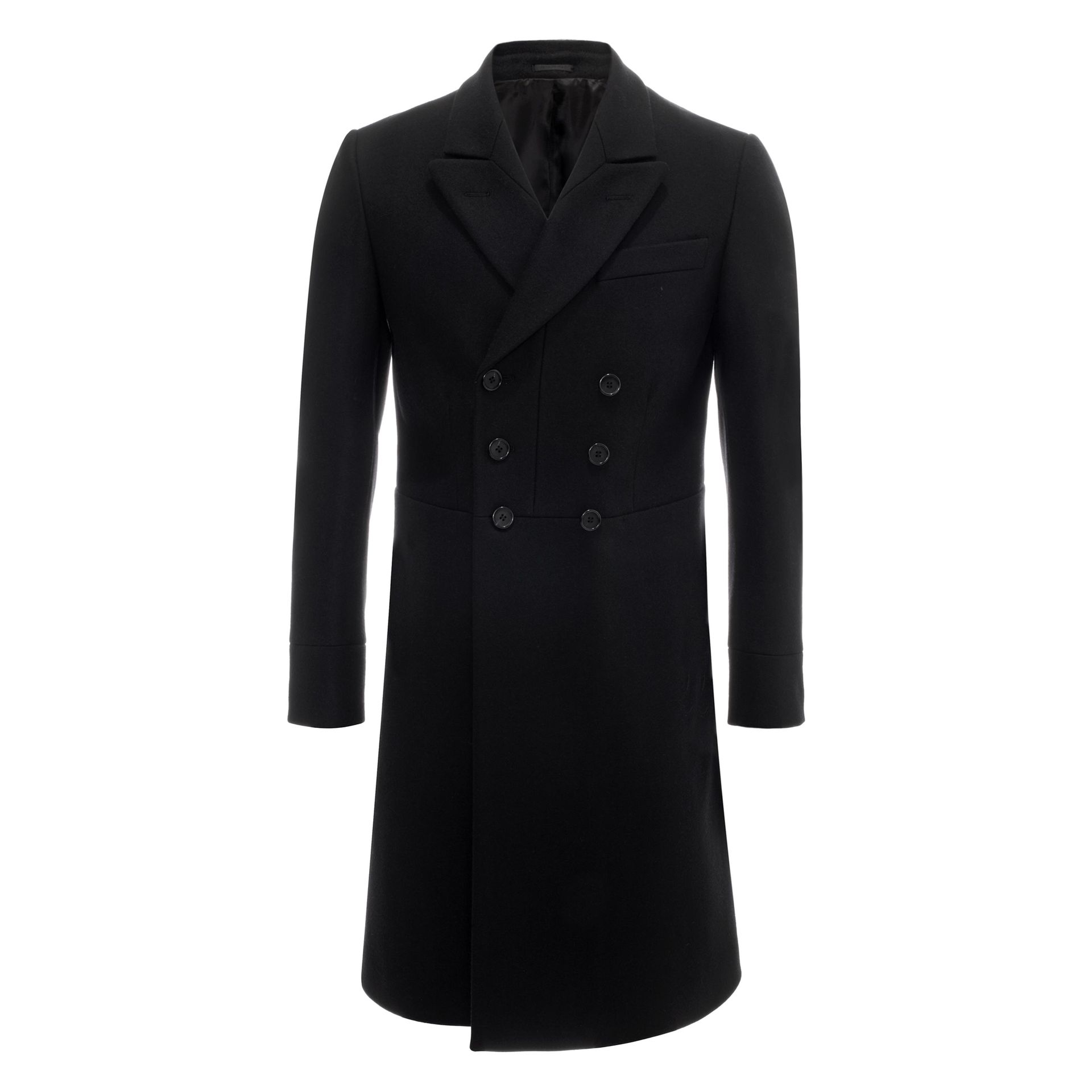 Alexander Mcqueen Wool Cashmere Double Breasted Coat in ...