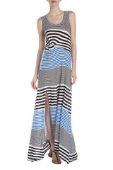 BCBGMAXAZRIA Dona Striped Maxi Dress Larkspur - Lyst