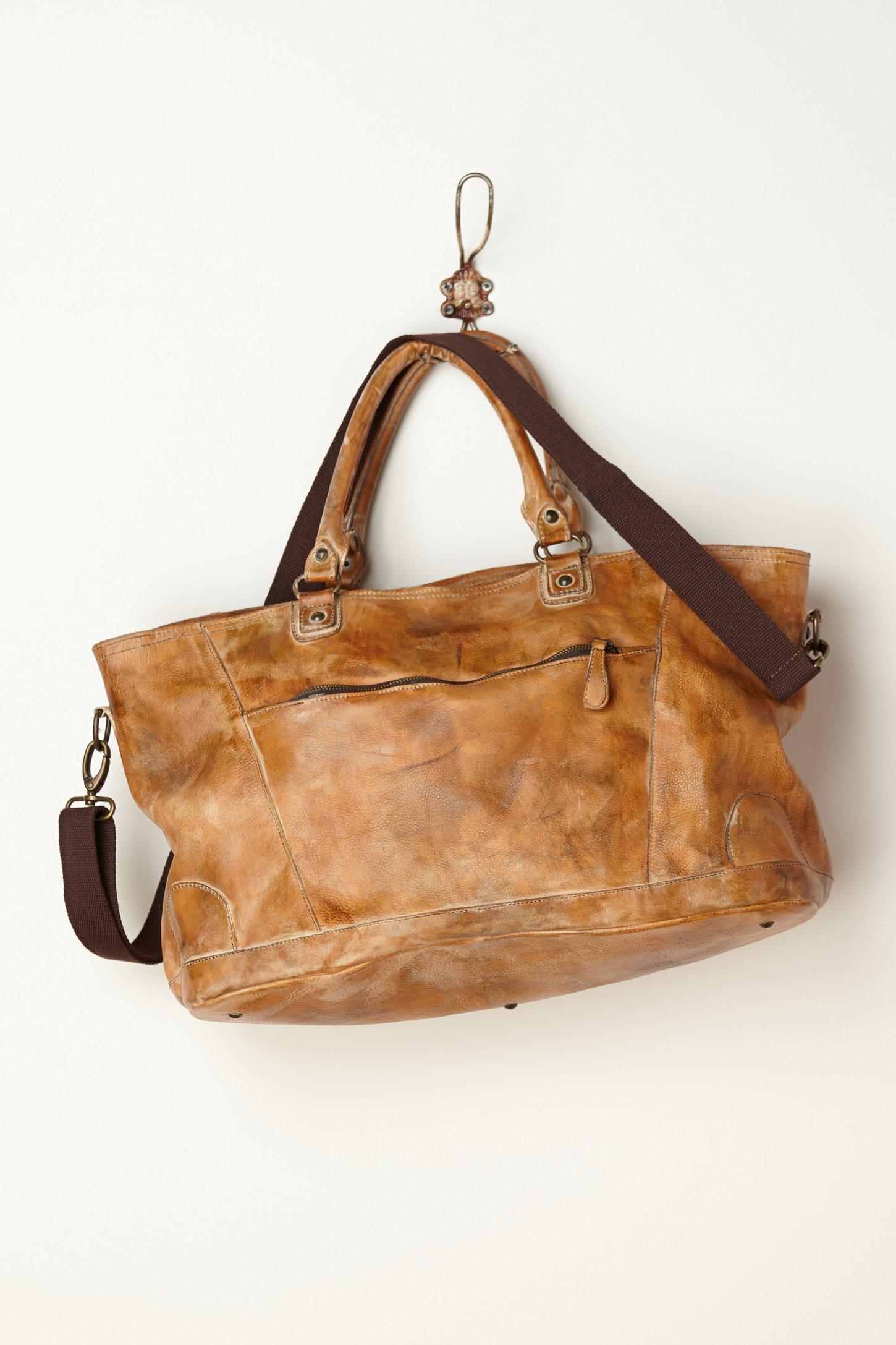 bed stu perry satchel in brown | lyst