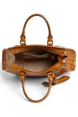 Brahmin La Scala Arden Satchel in Brown (Whiskey) - Lyst
