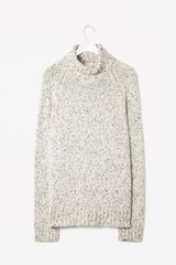 Cos Speckled Roll Neck Jumper - Lyst