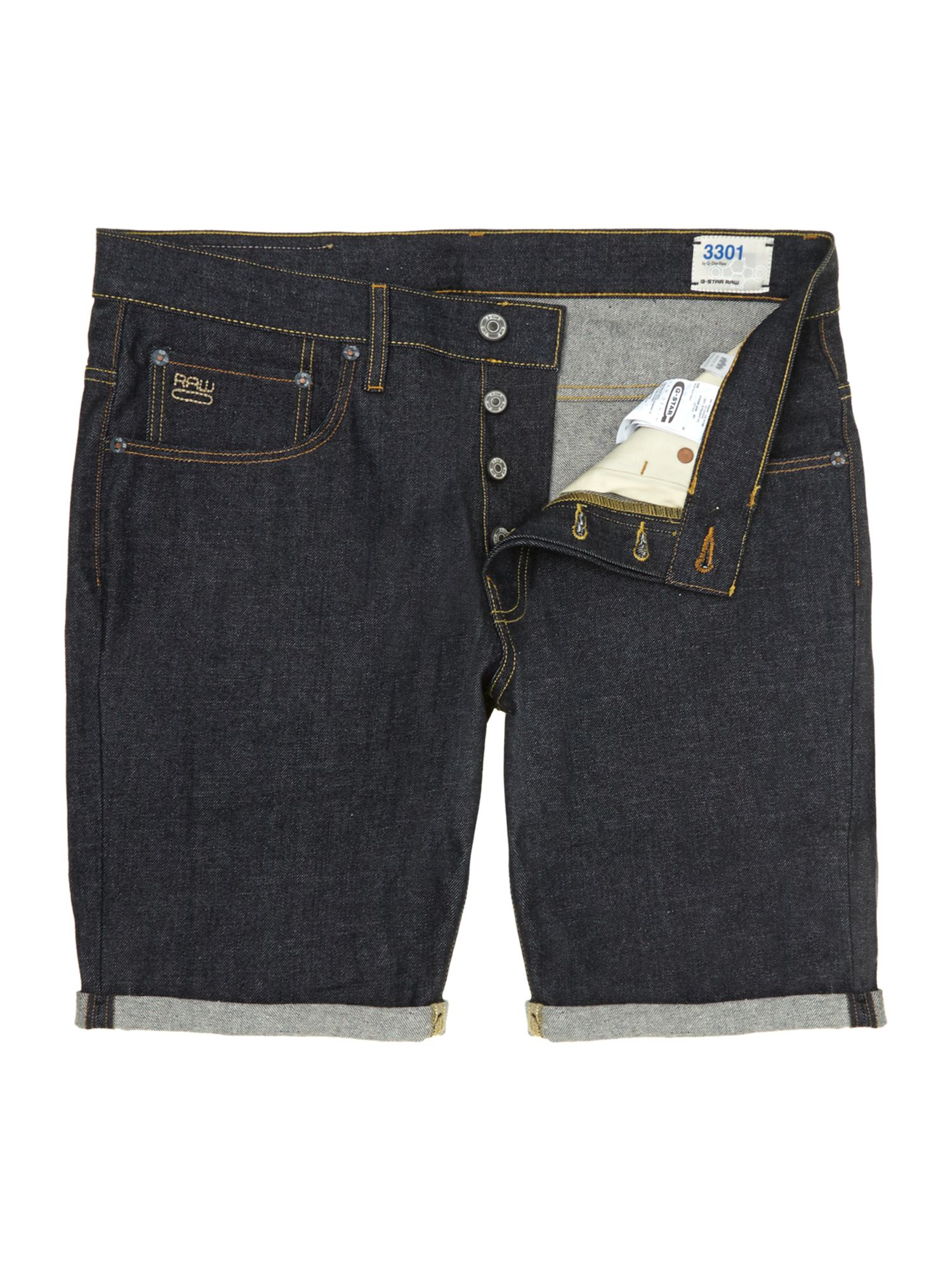 g star raw denim shorts in blue for men lyst. Black Bedroom Furniture Sets. Home Design Ideas