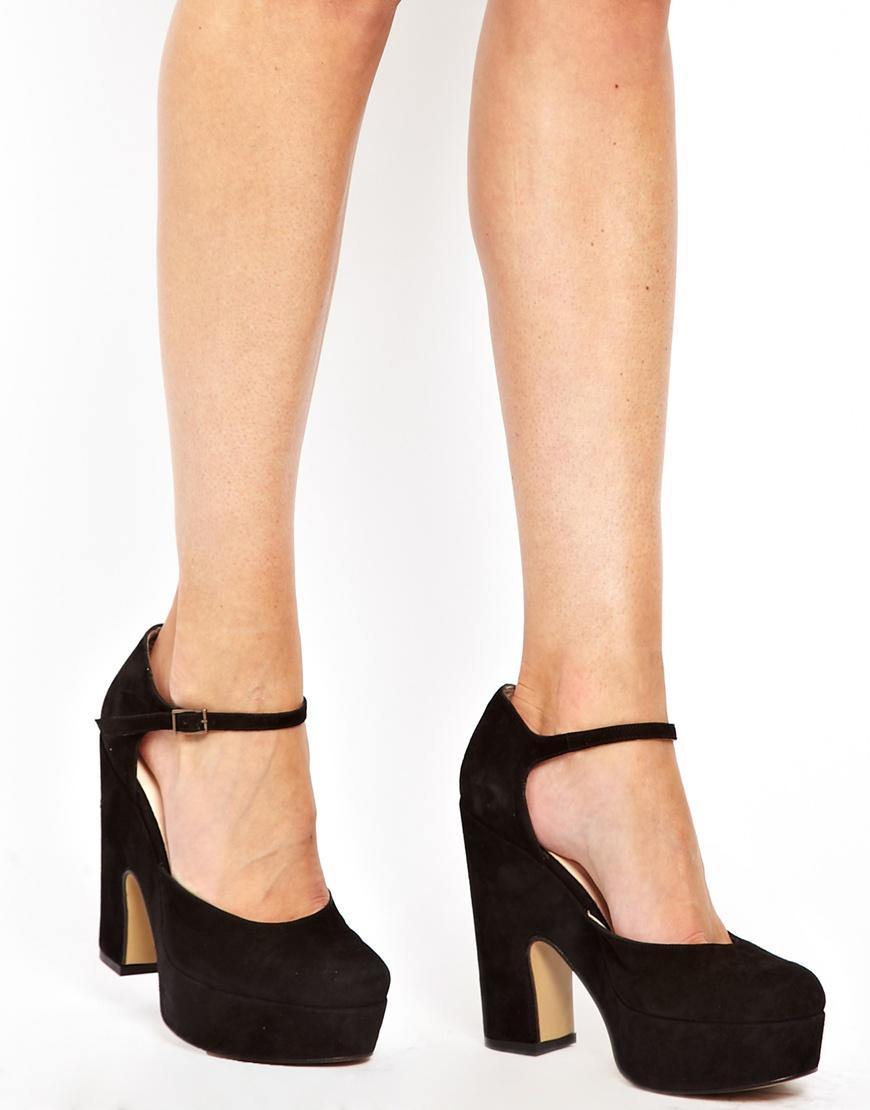 76787b52275 Lyst - Ganni Bambi Suede Platform 70s Shoes in Black