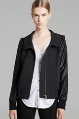Helmut Lang Helmut By Jacket Moto Stretch Hooded Bomber - Lyst
