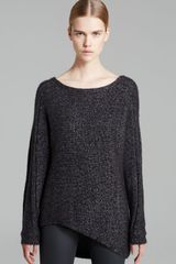 Helmut Lang Helmut By Sweater Flecked Alpaca Asymmetric - Lyst