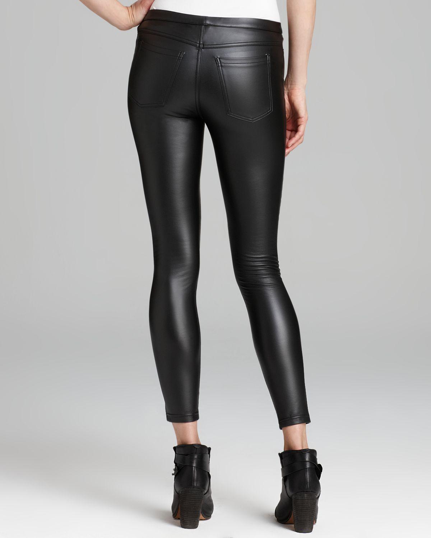 Hue Leatherette Leggings in Black   Lyst