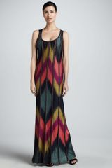 M Missoni Metallic Ikat Maxi Dress - Lyst
