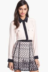 Marc By Marc Jacobs Frances Silk Top - Lyst