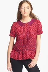 Marc By Marc Jacobs Isa Print Silk Top - Lyst