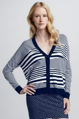 Milly Mirage Vneck Cardigan - Lyst