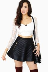 Nasty Gal Sweetheart Lace Crop Top - Lyst